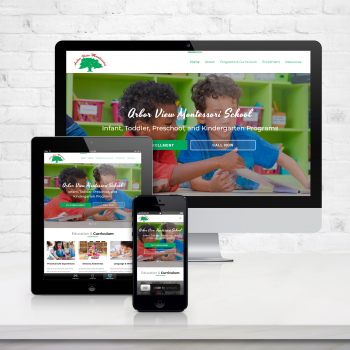 Website Design for Arbor View Montessori School